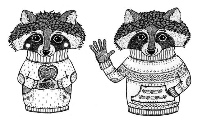 Racoons_together