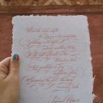 Уильям Тёрнер в каллиграфической истории