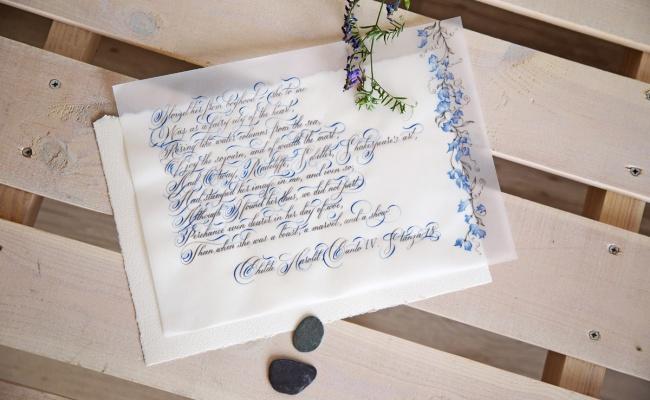 Джордж Байрон в каллиграфической истории