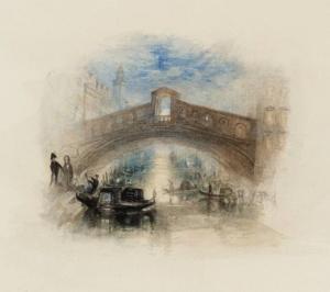 Уильям Тёрнер, Венеция, мост Риальто в лунном свете