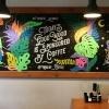 Время приключений: роспись стены в кафе